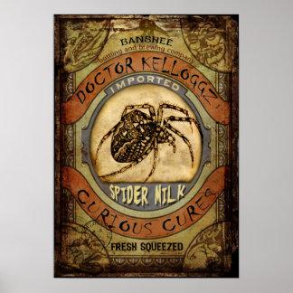 Leche de la araña póster