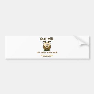 Leche de la cabra, la otra leche blanca Producst Pegatina Para Auto
