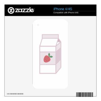 Leche de la fresa iPhone 4 skins