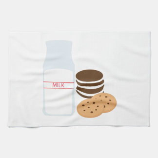 Leche de las galletas toalla