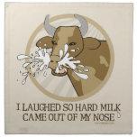 Leche de vaca hacia fuera mi nariz servilleta de papel