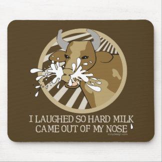 Leche de vaca hacia fuera mi nariz tapete de ratón