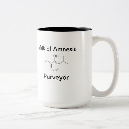 Leche del proveedor de la amnesia taza