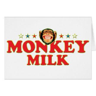 Leche enrrollada del mono tarjeta