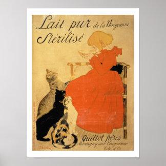 """""""Leche esterilizada pura del La Vingeanne"""", 1894 ( Impresiones"""