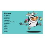 leche linda feliz del helado del dibujo animado de plantilla de tarjeta de visita