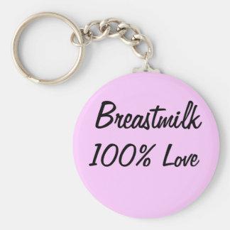 Leche materna del = amor 100% llavero personalizado