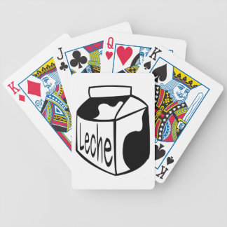LECHE MILK SPANISH DAIRY CONTAINER SKETCH LOGO BICYCLE PLAYING CARDS