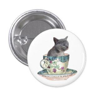 ¿Leche o azúcar? botón del gatito Pin Redondo De 1 Pulgada