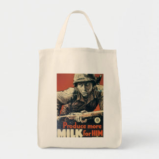 Leche para él guerra mundial 2 bolsas lienzo