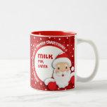 Leche para Santa. Tazas del regalo del navidad