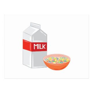 Leche y cereal postales