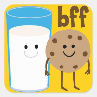 Leche y galletas BFF Colcomania Cuadrada