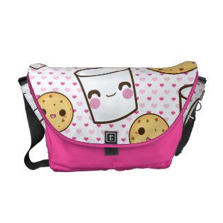 Leche y galletas bolsa de mensajería
