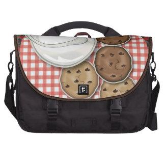 Leche y galletas bolsas para portátil
