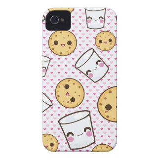 Leche y galletas iPhone 4 Case-Mate carcasa