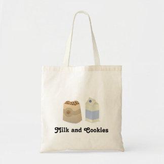 Leche y galletas lindas bolsa