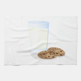 Leche y galletas toallas