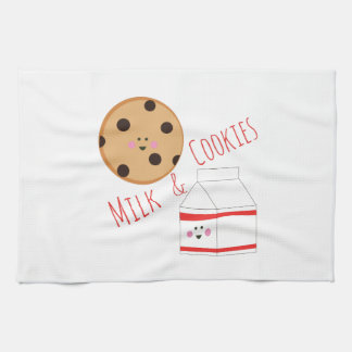 Leche y galletas toalla