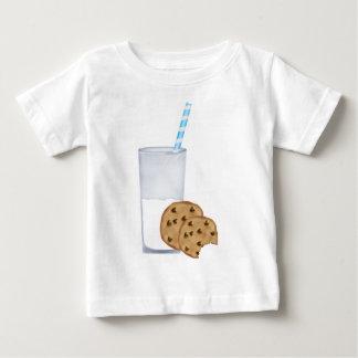 leche y galletas playera de bebé