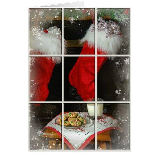 Leche y galletas tarjeta de felicitación