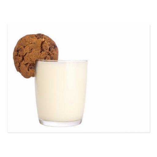 leche y galletas tarjetas postales