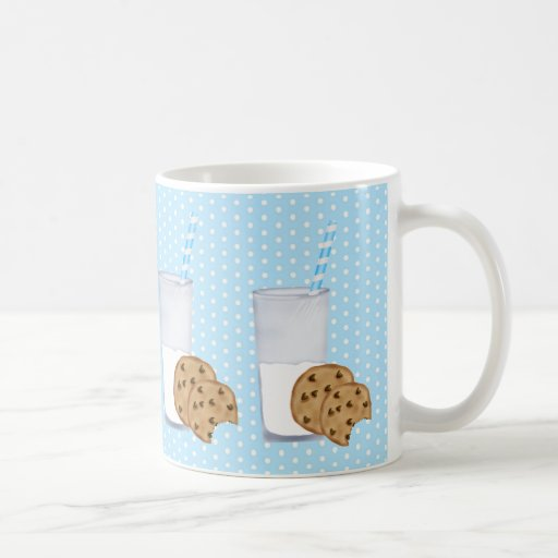 leche y galletas taza