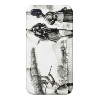 Leche y vendedores de Capim iPhone 4/4S Carcasa
