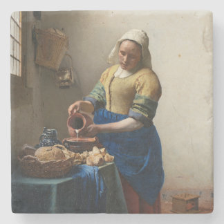 Lechera Juan Vermeer Posavasos De Piedra