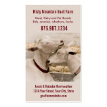 Lechería de la granja de la cabra o tarjeta de vis