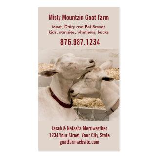 Lechería de la granja de la cabra o tarjeta de vis plantillas de tarjeta de negocio