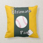 Lechería moldeada último aficionado al béisbol almohada