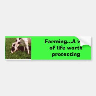lechería Mooo, cultivando… la manera de A de vida  Pegatina Para Auto