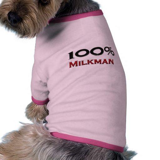 Lechero del 100 por ciento camisas de perritos