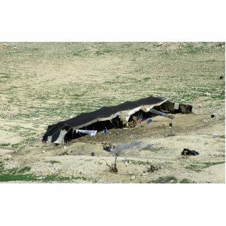 Lecho de un río seco-Al-Hasa, tienda beduina, Fotoescultura Vertical