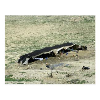 Lecho de un río seco-Al-Hasa tienda beduina Jord Postal