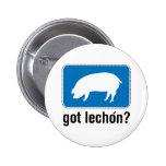 Lechon conseguido - azul pin redondo 5 cm