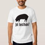 Lechon conseguido - negro básico playera