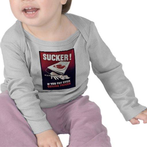 ¡Lechón! Markket negro Camisetas
