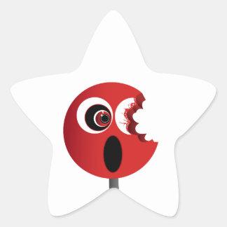 Lechón rojo pegatina en forma de estrella