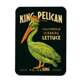 Lechuga de iceberg de rey Pelican Imanes Flexibles