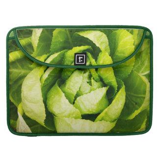 Lechuga - textura de las hojas del verde fundas macbook pro