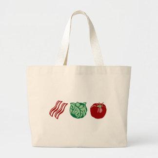 ¡Lechuga y tomate - el BLT del tocino! Bolsa Tela Grande