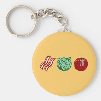 ¡Lechuga y tomate - el BLT del tocino! Llavero Redondo Tipo Pin