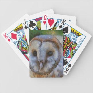 Lechuza común baraja de cartas