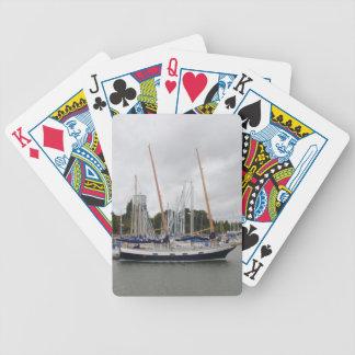 Lechuza común de madera del yate barajas de cartas