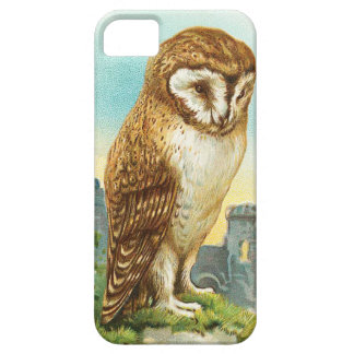 Lechuza común del vintage funda para iPhone 5 barely there