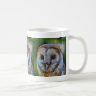 Lechuza común taza de café