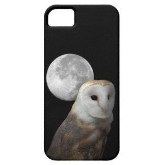 Lechuza común y luna de Barely There del compañero iPhone 5 Protectores