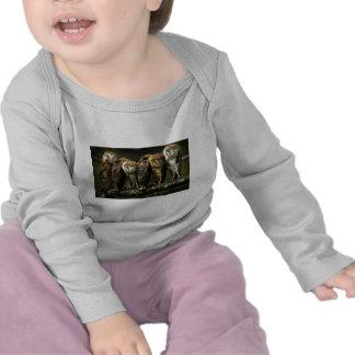 Lechuzas comunes camisetas